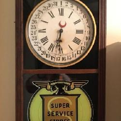 Antique Advertising Clock - Check out the auction for other advertising
