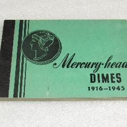 Mercury Head Dime book with coins