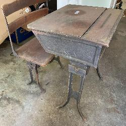 Vintage Schoolhouse Desk and Chair