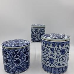 Lot of Three Williams Sonoma Blue and White