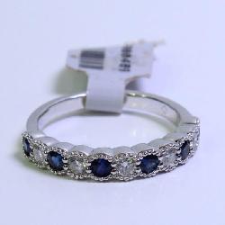 .29TW 14K White Gold Diamond/Sapphire