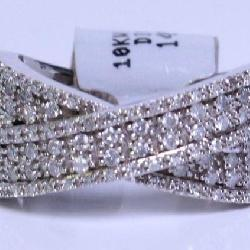 10K White Gold .50CTTW Diamond Band Ring