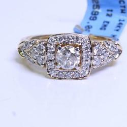 1CTTW 14K Yellow Gold HI/I2 Engagement Ring
