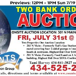 July 31st Auction : Counts Realty and Auction