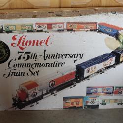 Lionel 75th anniversary commemorative train set