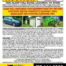 1930 Alsup Mill Rd Absolute Auction