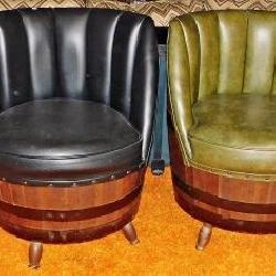 Retro Barrel Chairs & Table