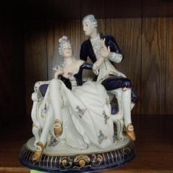Royal Dux Man & Woman Figurine