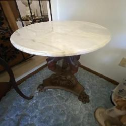 Carved Marble Top Table 1800's