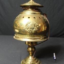 Brass Electrified Lamp Marked Pullman