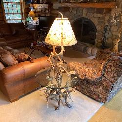 Real Antler Lamps Sept 19 St.Louis Auctions Woodruff WI