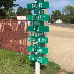 Street signs from all over Sullivan Missouri
