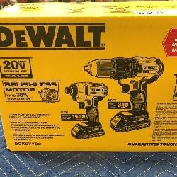 DeWalt 20V Max 2 Pc Tool Kit: Drill Driver& Impact