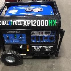 New DuroMax XP12000HX Generator Dual Fuel
