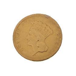 RARE! 1854-O Princess Head $3 Gold Coin