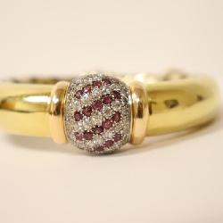 18k diamond bangle by Baraka
