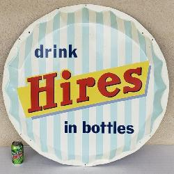 Hires bottle cap sign
