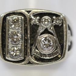 Masonic diamond ring