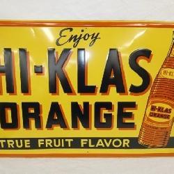 36X24 EMB. HI-KLAS ORANGE DRINK SIGN