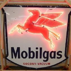 75x72 1955 MOBILGAS PEGASUS NEON