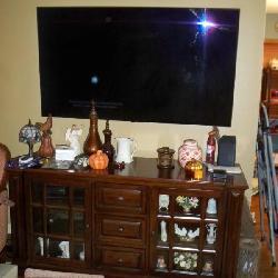 65 inch LG Smart TV 4K UltraHD TV; Media Cabinet