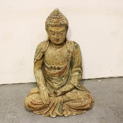 Chinese 15th century wood Buddha