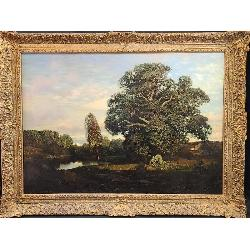 Large Henry P Smith 1854-1904 Landscape Painting LISTED