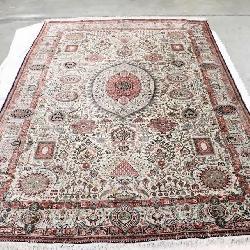 Persian vintage Qum silk rug