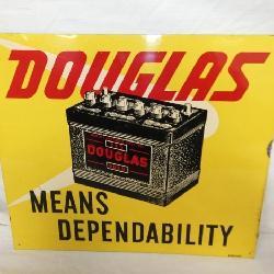14x12 DOUGLAS BATTERIES SIGN