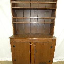PRIM. 1800'S PEWTER CUPBOARD