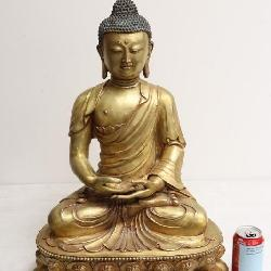 Chinese antique gilt bronze Buddha
