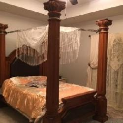 Full size poster bed - foot board 21x53 headboard 46x53 and posts 91