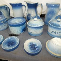 COLLECTION BLUE/WHITE STONEWARE