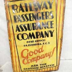 1920'S PORC. RR PASSENGERS COMPANY SIGN