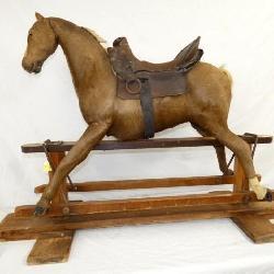 1800'S HANDMADE 40IN GLIDER HORSE
