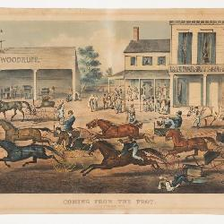 Currier and Ives (Publisher): Coming From The Trot Sports On The Home Stretch, Litho, 1869
