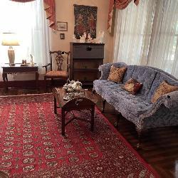 Beautiful Williamsburg Sofa, Barrister's Desk, Persian Rug