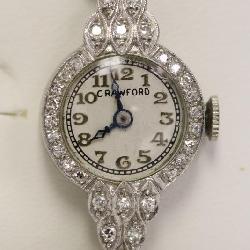 14k lady's diamond wrist watch