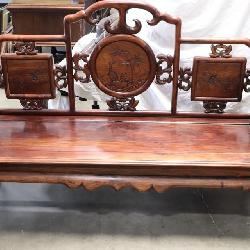 antique Chinese rosewood 3 seat coach