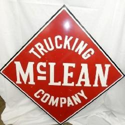 38IN. MCLEAN TRUCKING CO. SIGN