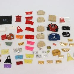 collection of Barbie doll purses