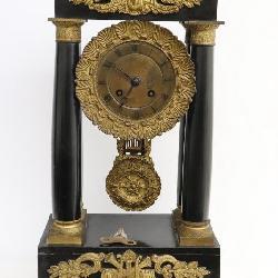 19th century French clock with ormolu