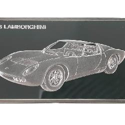 2.3OZ STERLING SILVER 1966 LAMBORGHINI INGOT BAR