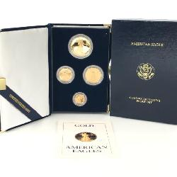 1988 AMERICAN GOLD EAGLE PROOF 4 COIN SET