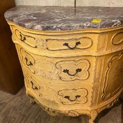 French Marble top bureau
