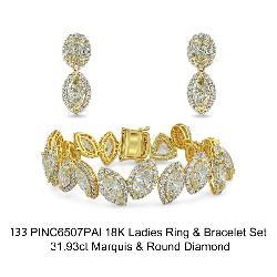 Diamond Bracelet & Earring Set
