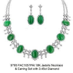 Jadeite Jade Necklace Set