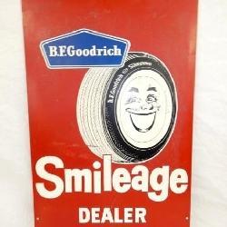 18X30 B.F GOODRICH SMILEAGE DEALER SIGN