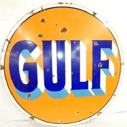 42IN DOUBLE SIDED PORC. GULF SIGN