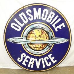 5FT. PORC. OLDSMOBILE SERVICE SIGN
